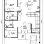 Denah lantai 1 rumah minimalis 2 lantai di gdc depok