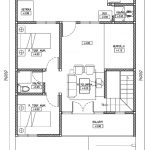 Denah lantai 2 rumah minimalis modern di perumahan gdc depok
