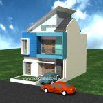 Desain rumah minimalis modern di gdc gran depok city