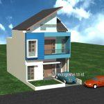 Model rumah minimalis 2 lantai di perumahan gdc depok