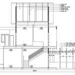 Potongan melintang rumah minimalis 2 lantai di gdc depok