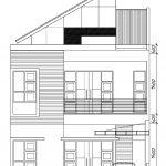 Tampak depan rumah minimalis modern di perumahan gdc depok