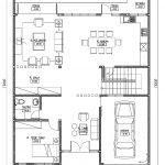Denah lantai 1 rumah minimalis modern karawaci