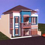 Desain rumah tinggal 2 lantai di karawaci