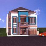 Model rumah minimalis modern 2 lantai di karawaci