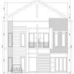 Tampak Depan Rumah Minimalis modern cluster dense cibubur