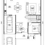 Denah lantai 1 rumah tinggal minimalis di jatimekar bekasi
