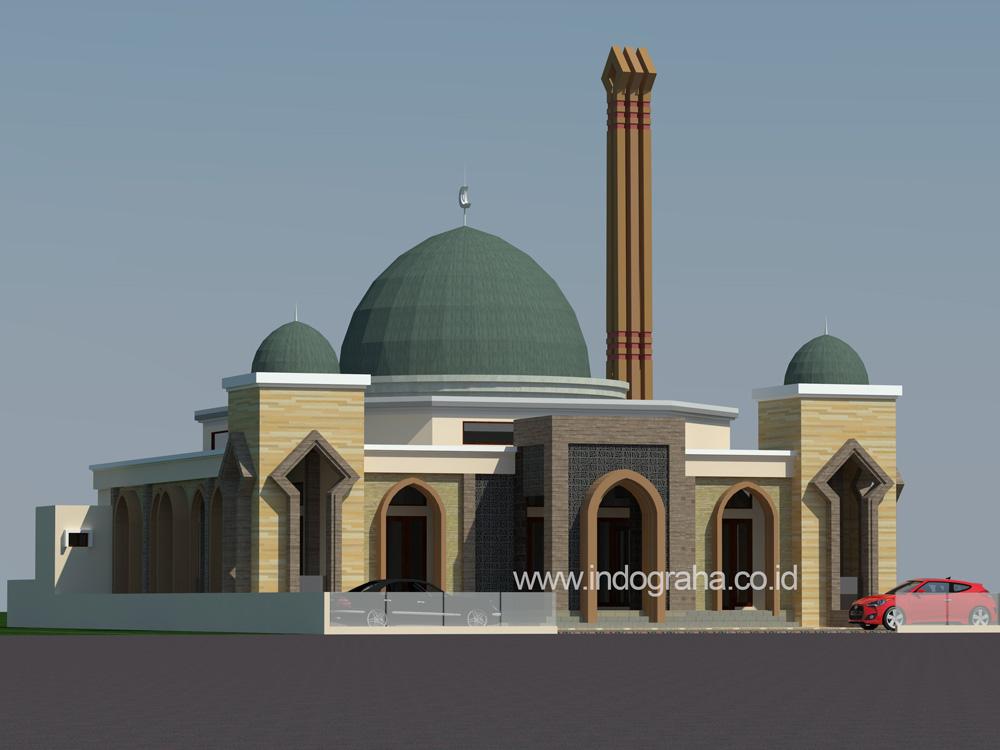 Desain masjid minimalis 400 m2 di Bone, Sulawesi Selatan