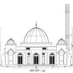 Tampak Depan Masjid minimalis di Bone Sulawesi Selatan