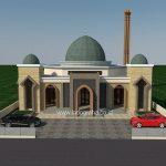 Tampak depan minimalis desain masjid di Bone