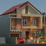 Desain rumah minimalis modern 2 lantai di BSD City Tangsel