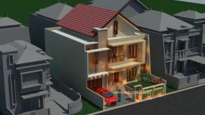 Gambar desain arsitek rumah minimalis di cluster BSD City Tangsel
