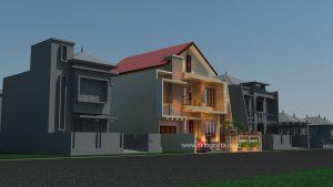 Ide desain denah rumah minimalis 2 lantai di BSD City Tangsel