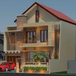 Model rumah minimalis modern tingkat 2 di BSD City Tangerang Selatan