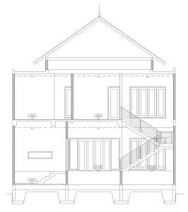 Potongan A rumah minimalis BSD City