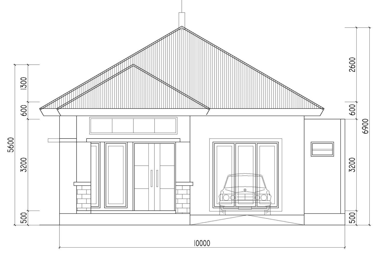 Desain Rumah T&ak Depan S&ing Dan Atas desain rumah minimalis 1 lantai di pasir kuda bogor