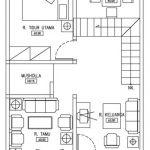 Denah Lantai 1 Rumah Tambun Bekasi