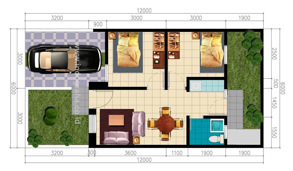 Denah Perumahan Graha Cimanggis Residence Tipe 40