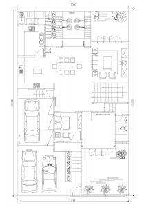 Denah lantai 1 rumah minimalis BSD City