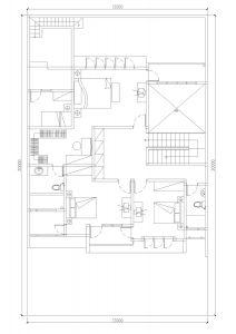 Denah lantai 2 rumah minimalis BSD City