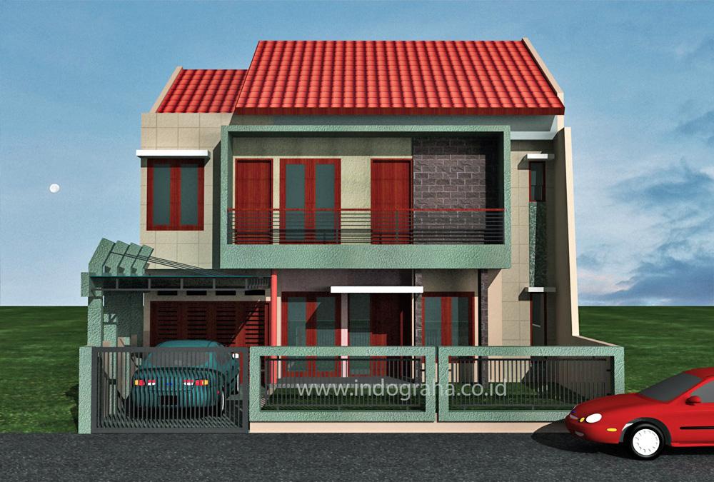 Desain Rumah Tingkat 2 di Jatimekar Pondok Gede