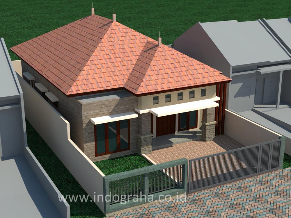 Desain rumah minimalis 1 lantai di pinang ranti