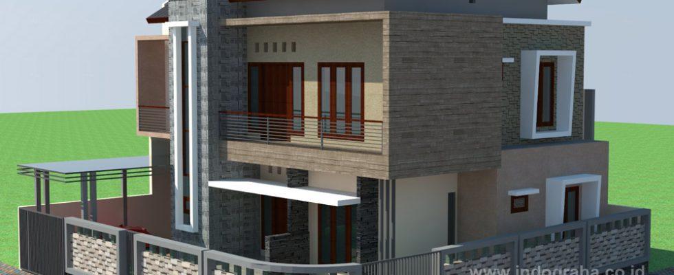 Desain rumah minimalis 2 lantai di kalimalang Bekasi