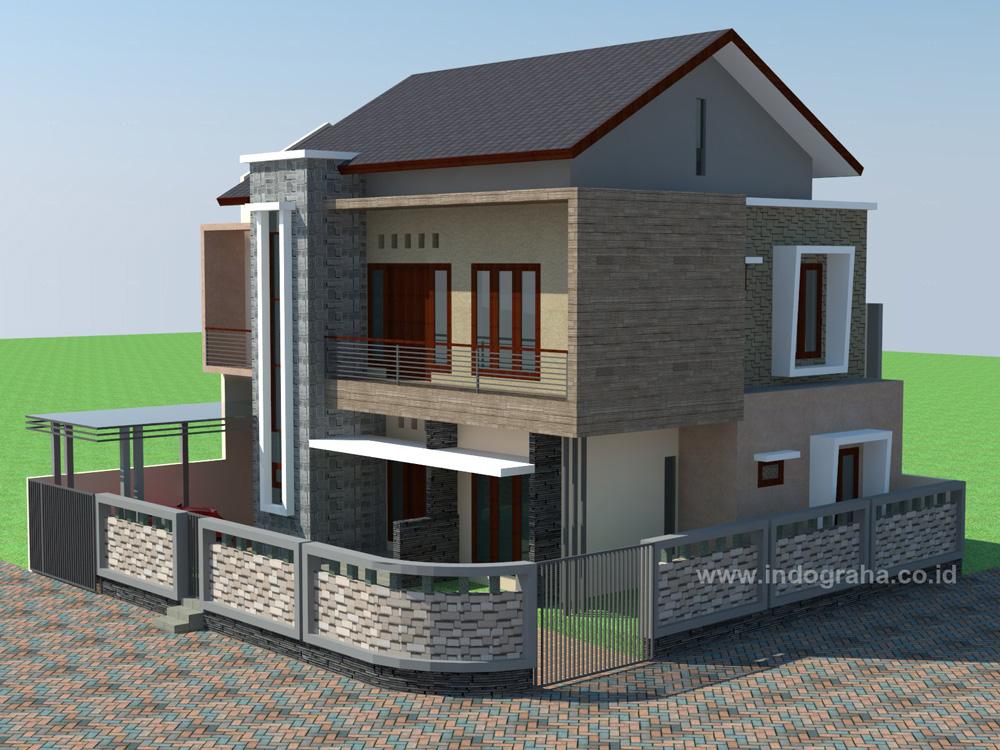 Desain Rumah Sudut Minimalis 2 Lantai Jatiasih Indograha Arsitama Bekasi