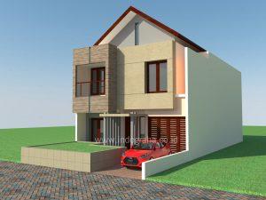 Desain rumah minimalis di cibubur