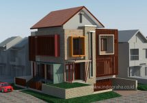 Desain rumah minimalis kavling sudut di puri bintaro