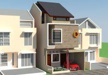 Desain rumah minimalis tingkat 3 di cinere depok
