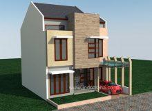 Desain rumah minimalis villa nusa indah cibubur