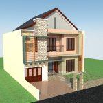 Desain rumah tinggal minimalis di bsd city