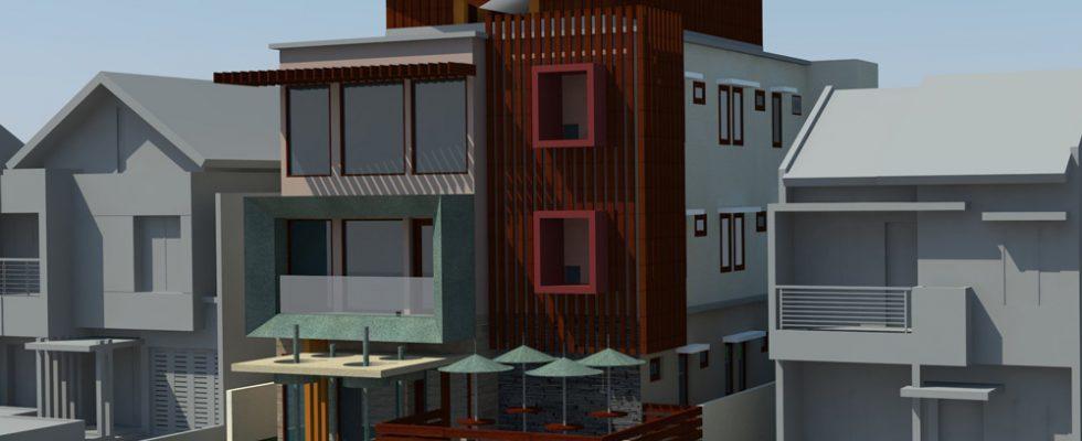 Gambar rumah kos minimalis di jalan kober margonda depok