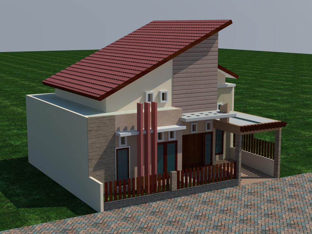 Desain Rumah Minimalis 2 Lantai Atap Miring Wild Country Fine Arts