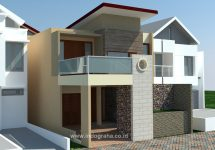 Model rumah minimalis modern di maruyung limo depok