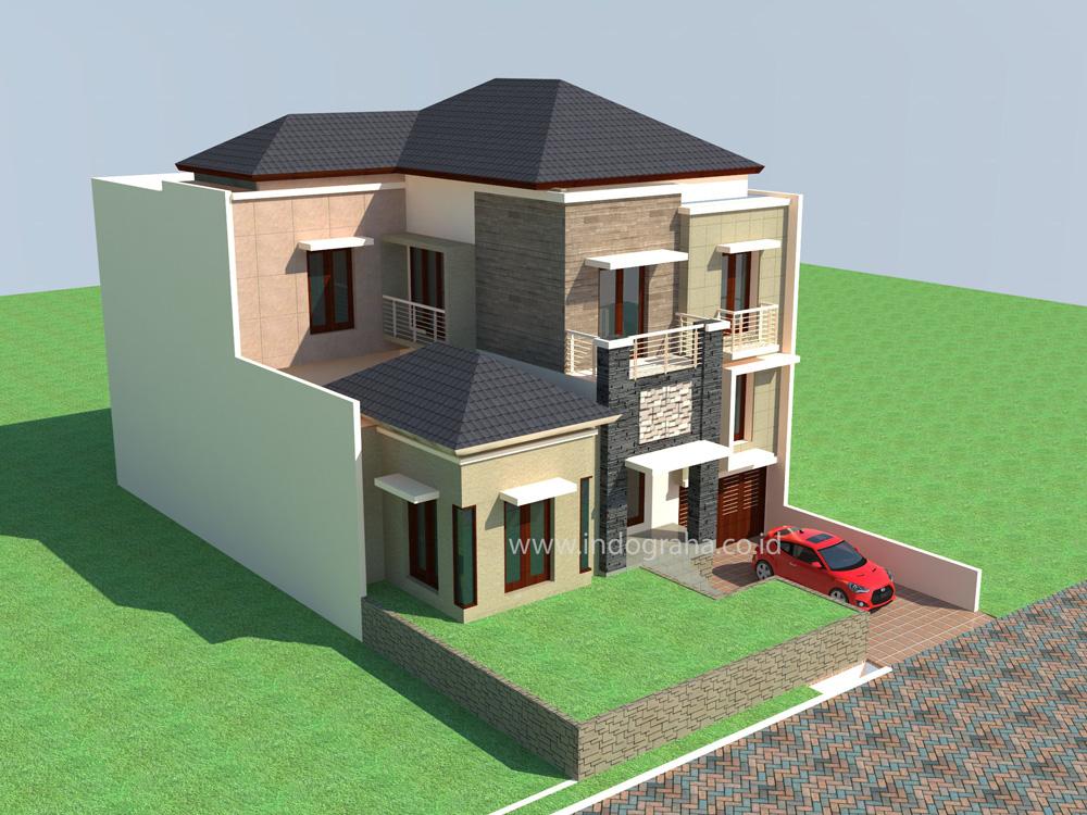 Desain Rumah Tropis di Citragran Cibubur