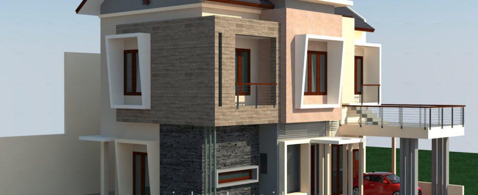 Desain rumah minimalis the address cibubur