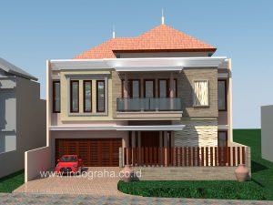 desain rumah klasik 2 lantai di pondok indah jakarta