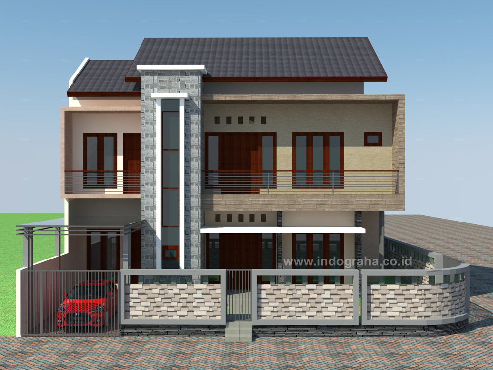 Desain rumah sudut minimalis di jatiasih Bekasi