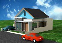 Desain Rumah Tinggal Minimalis di Kalimulya, Depok