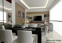 Desain Interior Kabinet TV Kebayoran Village