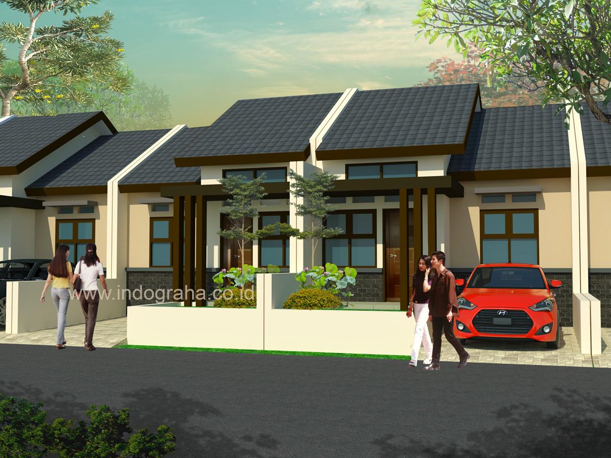 Desain rumah minimalis tipe 42 di cipayung depok