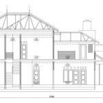 Denah Arsitek rumah minimalis tingkat 2 di depok