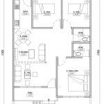 Denah Lantai 1 rumah minimalis modern cibubur
