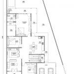 Denah Lantai 1 Rumah Minimalis modern di Cinere