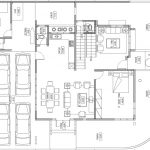 Denah lantai 1 rumah minimalis di perumahan the address @ cibubur