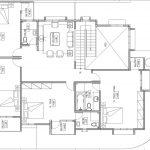 Denah lantai 2 rumah minimalis di perumahan the address @ cibubur