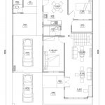 Denah Minimalis Lantai 1 rumah di permata depok citayam