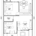 Denah Rumah Minimalis Lantai 1 Bekasi